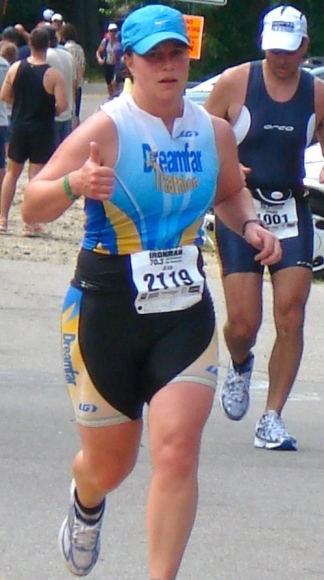 Jean Gillis during 2012 Ironman