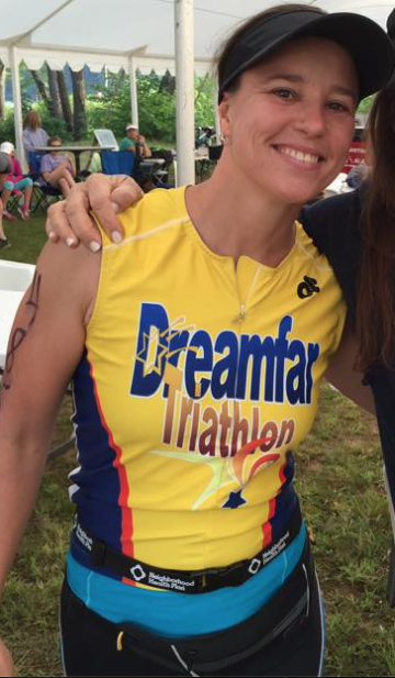 Jean Gillis with the Dreamfar Tri Team