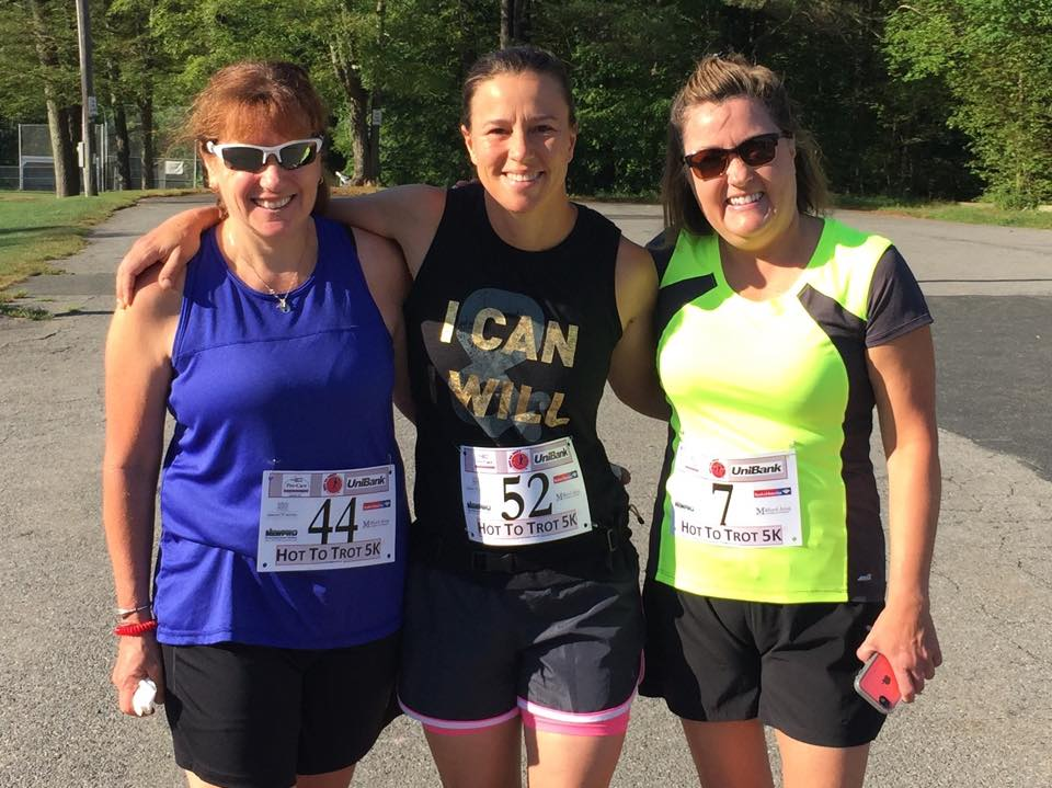 Upton Massachusetts Finishers of Hot to Trot 5k Road Race