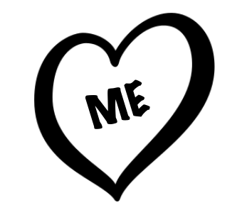 Image of heart with the word me inside