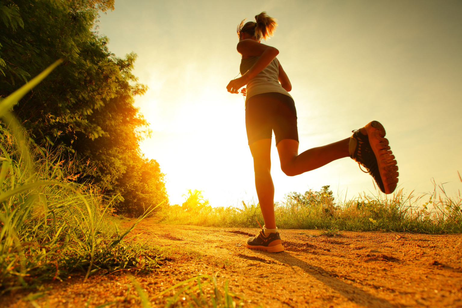 Female Running Sunrise