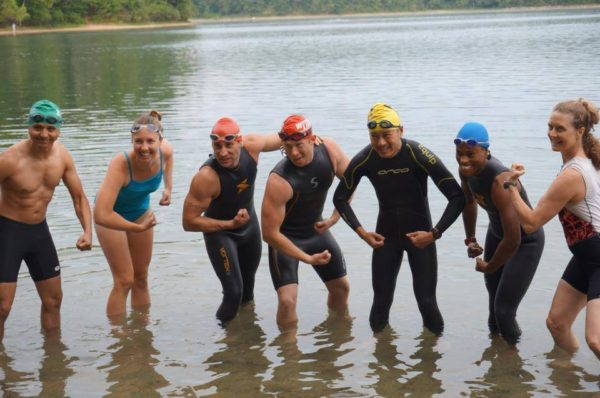 walden pond triathlete swim